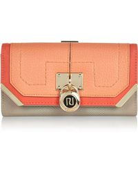 River Island Coral Colour Block Padlock Purse - Lyst