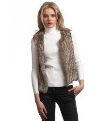 525 America Rabbit Fur Vest - Lyst