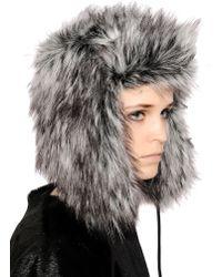 Urbancode - Faux Jackal Fur Hat - Lyst