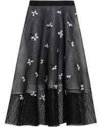 Noir Sachin & Babi - Ameya Embellished Mesh Midi Skirt - Lyst