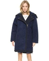 See By Chloé Fur Effect Coat - Blue