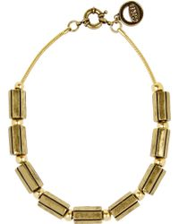 Giles & Brother Gold-tone Beaded Necklace - Lyst