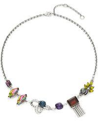 Gerard Yosca Stone Collar Necklace - Multicolour