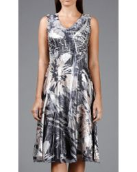 Komarov - Charmeuse Dress With Ruffle - Lyst