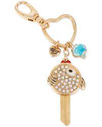 Betsey Johnson | Gold-tone Crystal Fish Bowl Key Chain | Lyst