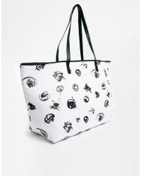 Asos Scribble Print Shopper Bag with Skinny Handles - Lyst