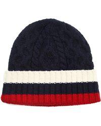 Tommy Hilfiger Austin Blue Striped Twisted Hat - Lyst