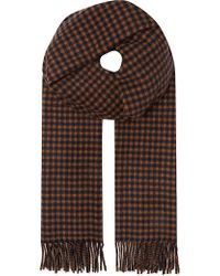 Max Mara Checked Cashmere  Wool Scarf - Lyst