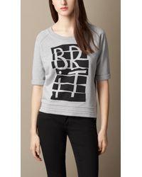 Burberry Brit Brit Graphic Cotton Sweater - Lyst