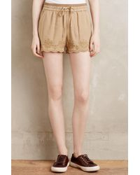 Hei Hei   Embroidered Linen Shorts   Lyst