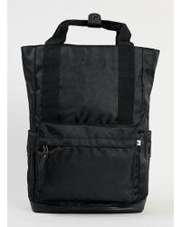 Topman Black Pique Nylon Backpack - Lyst