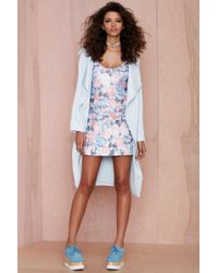 Nasty Gal Go With The Floral Metallic Dress - Lyst