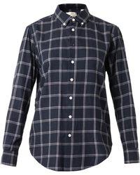 Band Of Outsiders Checkprint Cotton Shirt - Lyst