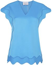 3.1 Phillip Lim Embroidered Ric-Rac Top - Lyst