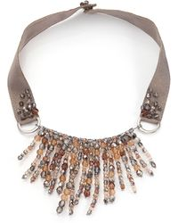 Peserico Icicle Necklace - Brown