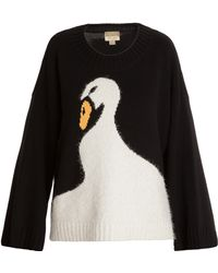 Wildfox Swan Dive Oversized Sweater - Lyst