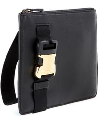 Christopher Kane Safety Buckle Leather Clutch - Lyst
