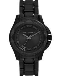 Karl Lagerfeld Unisex Karl 7 Black Ionplated Stainless Steel Bracelet Watch 36mm - Lyst
