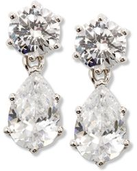 City By City | Double Cubic Zirconia Drop Earrings (13-1/2 Ct. T.w.) | Lyst
