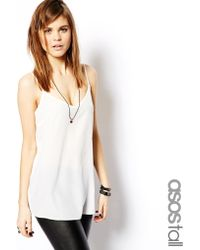 Asos Tall Longline Woven Cami Top - Lyst