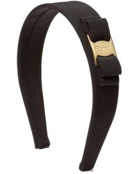 Ferragamo Medium Grosgrain Ribbon Bow Headband - Lyst