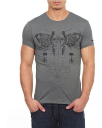William Rast Graphic Tee - Gray