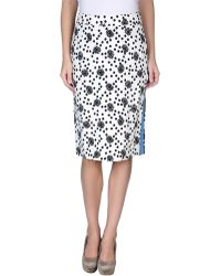 Emanuel Ungaro Knee Length Skirt - Lyst