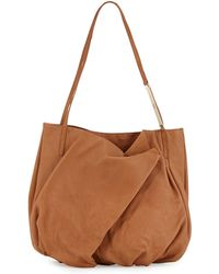 Halston Heritage Double-Handle Leather Tote Bag - Lyst