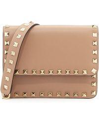 Valentino Rockstud Flap Crossbody Bag - Lyst