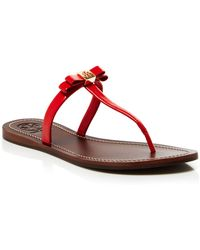 Tory Burch Flat Thong Sandals - Leighanne - Lyst