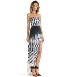 Suboo Paneled And Printed Maxi Dress - Lyst