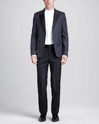 Alexander McQueen Houndstooth Tuxedo Jacket - Lyst