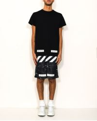 Off-White c/o Virgil Abloh | Black Marble Mesh Short With Print | Lyst