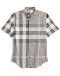 Burberry Brit | 'fred' Trim Fit Short Sleeve Sport Shirt | Lyst