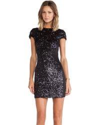 Dress The Population Black Sabrina Dress - Lyst