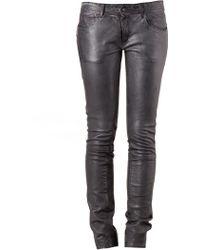 Le Cuir Perdu - Leather Trouser - Lyst