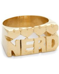 Snash Jewelry - Nerd Ring - Gold - Lyst