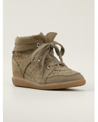 Isabel Marant Beige Bobby Sneakers - Lyst