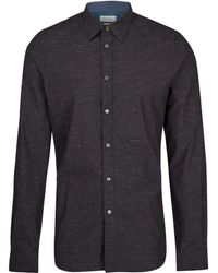 Paul Smith Black Long Sleeve Chambray Shirt - Lyst