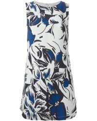 Vanessa Bruno Mini Floral Shift Dress - Lyst
