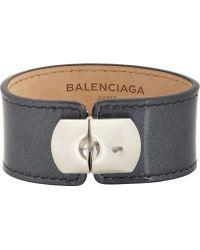 Balenciaga Gray Padlock Bracelet - Lyst