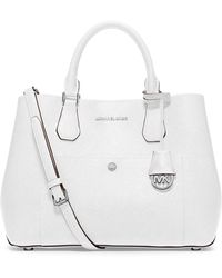 MICHAEL Michael Kors Greenwich Leather Large Tote - Lyst