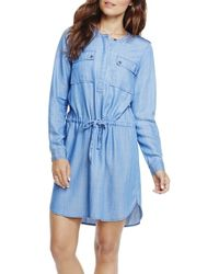 Two By Vince Camuto - Drawstring Chambray Shirt Dress  - Lyst