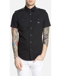 Diesel 'Koir' Extra Trim Fit Short Sleeve Military Shirt - Lyst