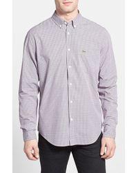 Lacoste Regular Fit Woven Shirt - Lyst