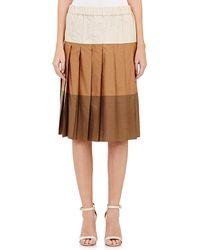Marni Pleated Knee-Length Skirt - Lyst
