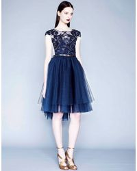 Notte by Marchesa | Embroidered Cap Sleeve Dress | Lyst