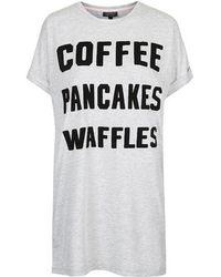 Topshop Coffee Pancakes Waffles Pj Tee - Lyst