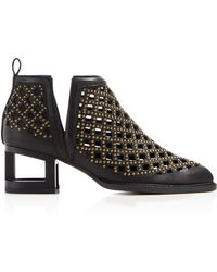 Jeffrey Campbell - Taggart Studded Cutout Booties - Lyst