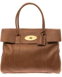 Mulberry Bayswater Leather Tote - Lyst